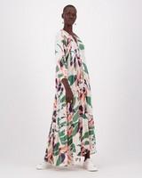 Kathrine Printed Maxi Dress -  green