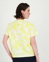 Kalon Brushstroke T-Shirt -  yellow
