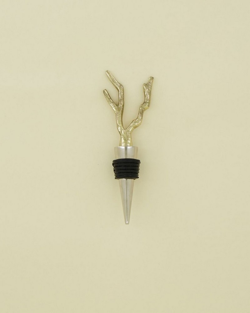 Coral Bottle Stopper -  gold-silver