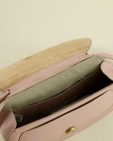 Nora Round Cross Body Leather Bag -  stone