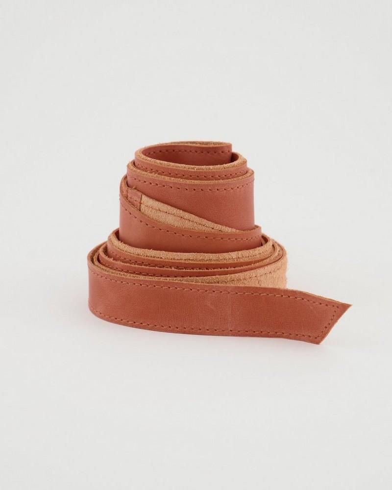 Tammy Waist Tie Belt -  coral