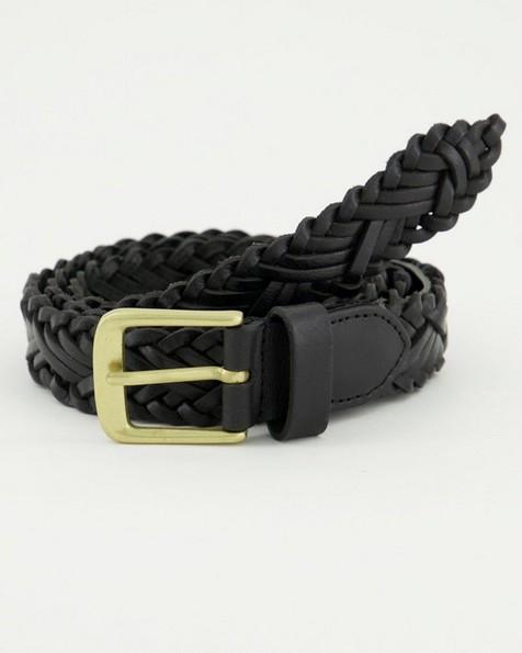 Saskia Plaited Chino Belt -  black