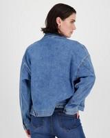 Kirsty Trucker Denim Jacket -  blue