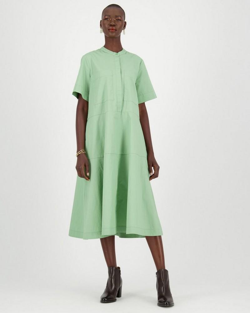 Wyn Shirt Dress -  olive