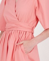 Selma Wrap Dress -  pink