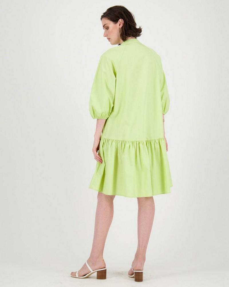 Delilah Tiered Shirt Dress -  lightgreen