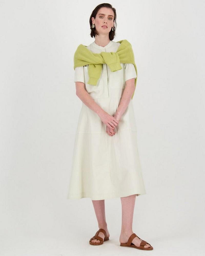 Wyn Shirt Dress -  stone