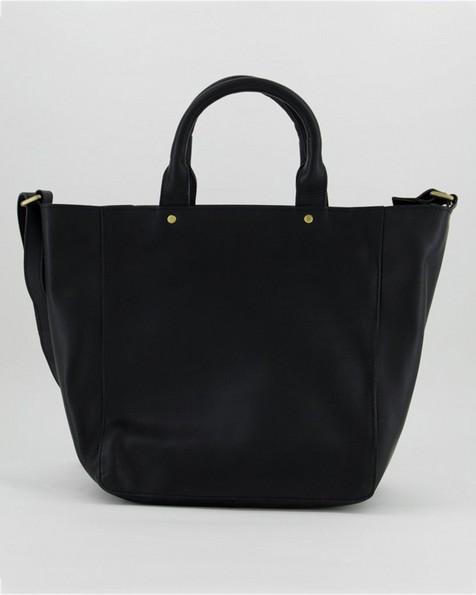Layla Classic Leather Shopper  -  black
