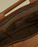 Layla Colourblock Leather Shopper -  tan-milk