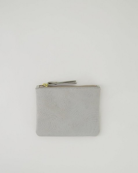 Moira Embossed Pouch -  grey