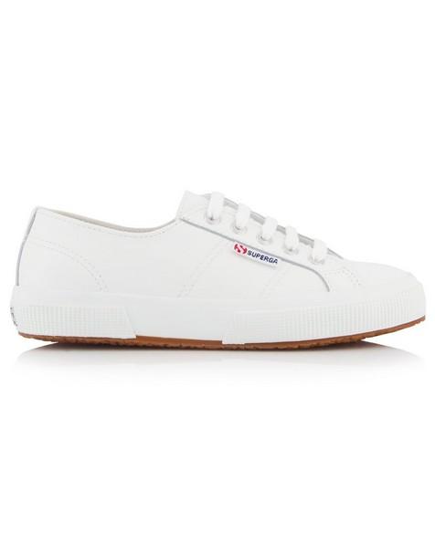 Superga Ladies Leather Sneaker  -  white