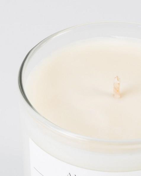 Amanda Jayne Terrace Breeze Candle in Glass  -  white-black