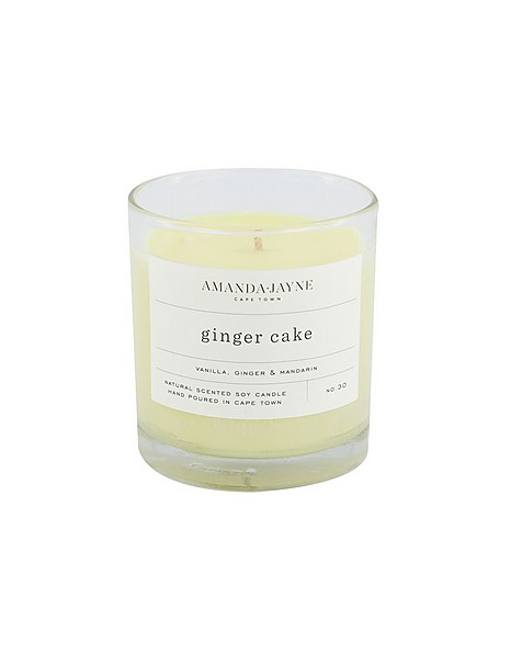 Amanda Jayne Ginger Cake Candle in Glass   -  white-black