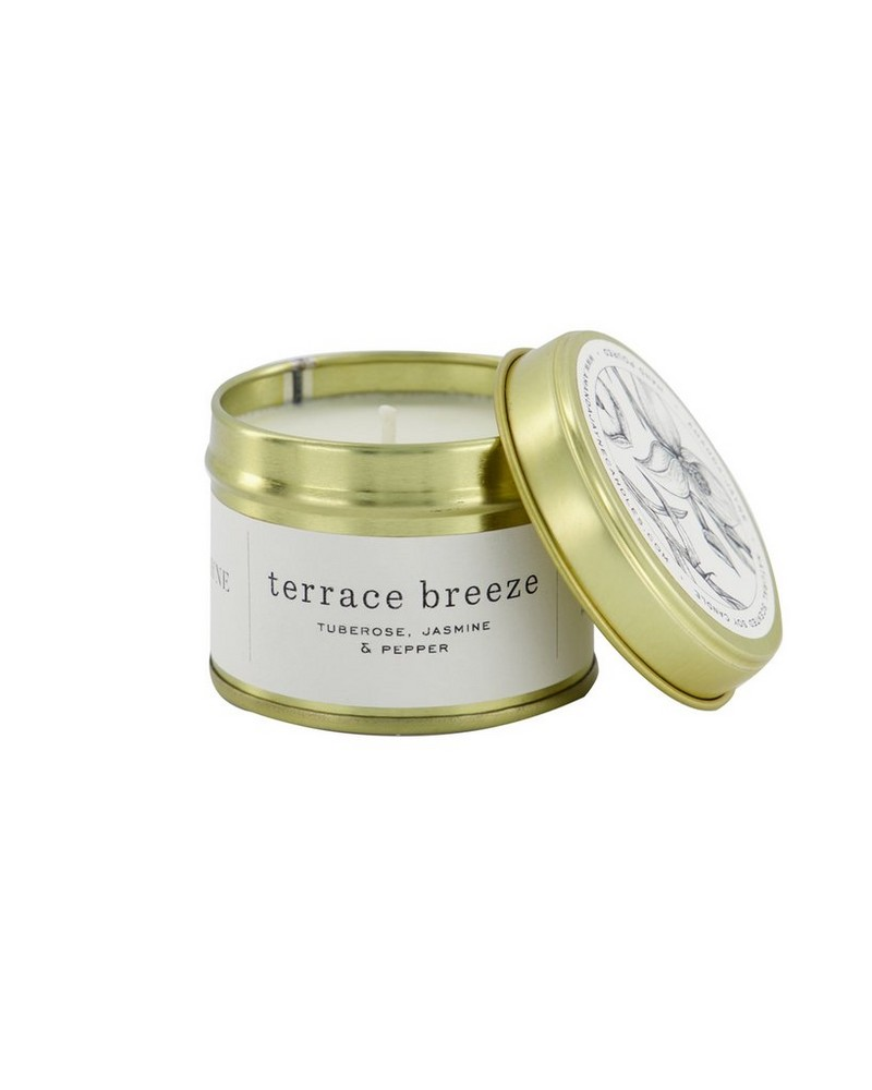 Amanda Jayne Terrace Breeze in Gold Tin   -  white-black