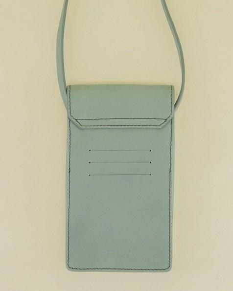Gene Phone & Card Pouch -  sage-green