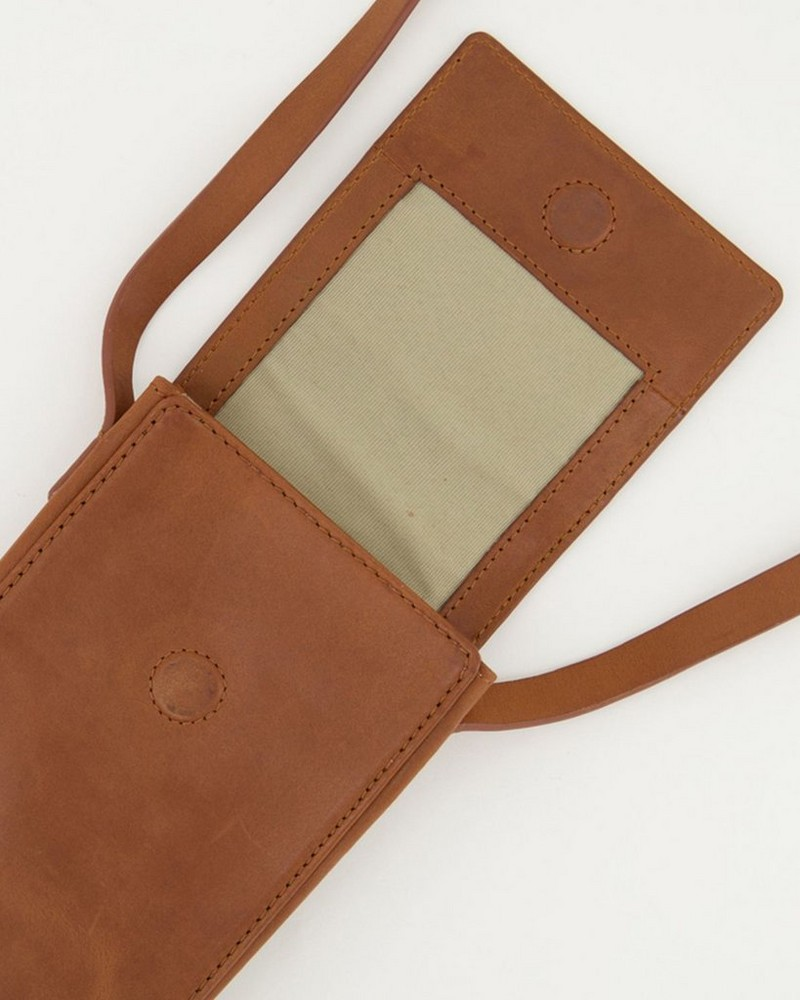 Gene Phone & Card Pouch -  tan