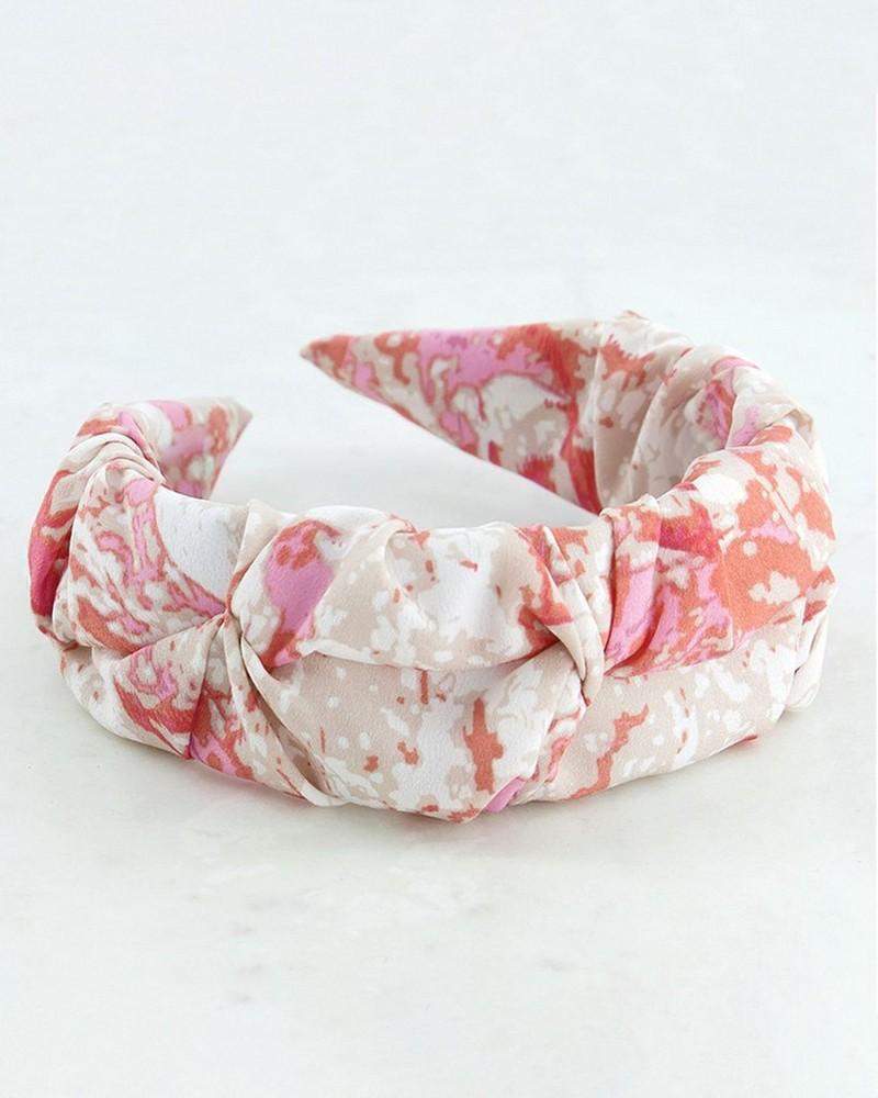 Gaia Ruched Aliceband -  pink-milk