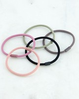 5-Pack Sibyl Rubber Coated Hair Elastics -  assorted