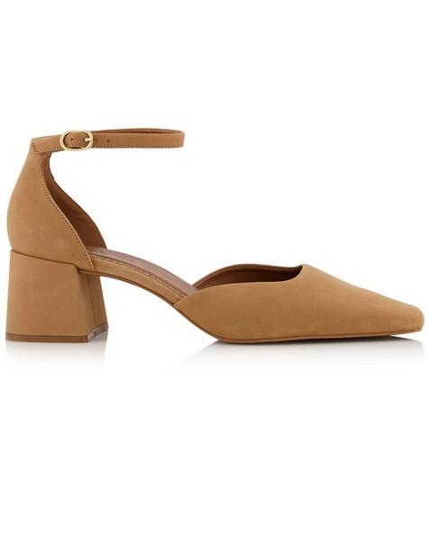 GIANNA Ladies Dorsay Block Heel -  camel