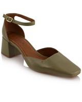GIANNA Ladies Dorsay Block Heel -  olive