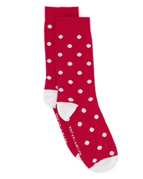 Tread + Miller Santa Dot Sock -  red