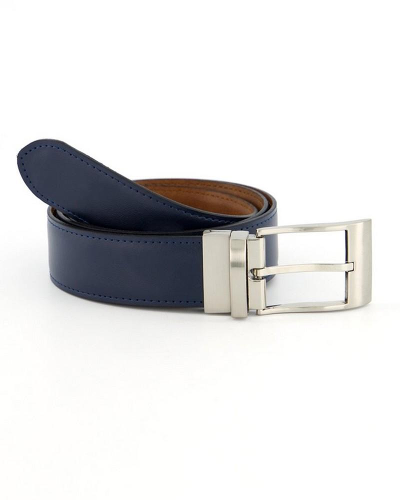 Tread + Miller Nate Reversible Belt -  navy