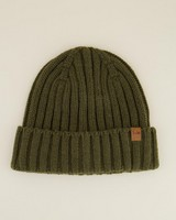 Rory Men's Ribbed Wool Beanie -  olive