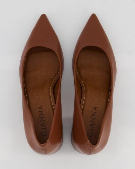 GIANNA Low Block Heel  -  tan
