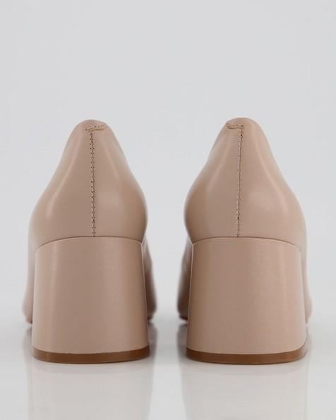 GIANNA Low Block Heel  -  nude