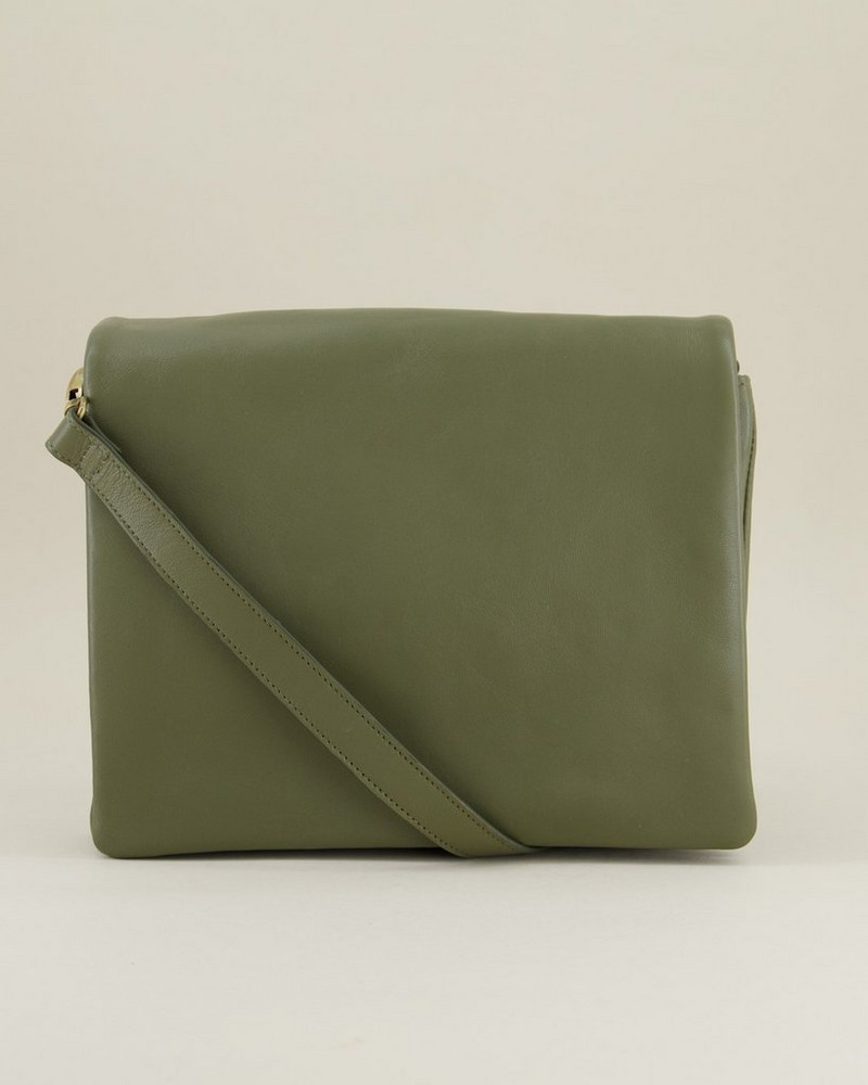 Michelle Fold Over Sling Bag -  lightolive