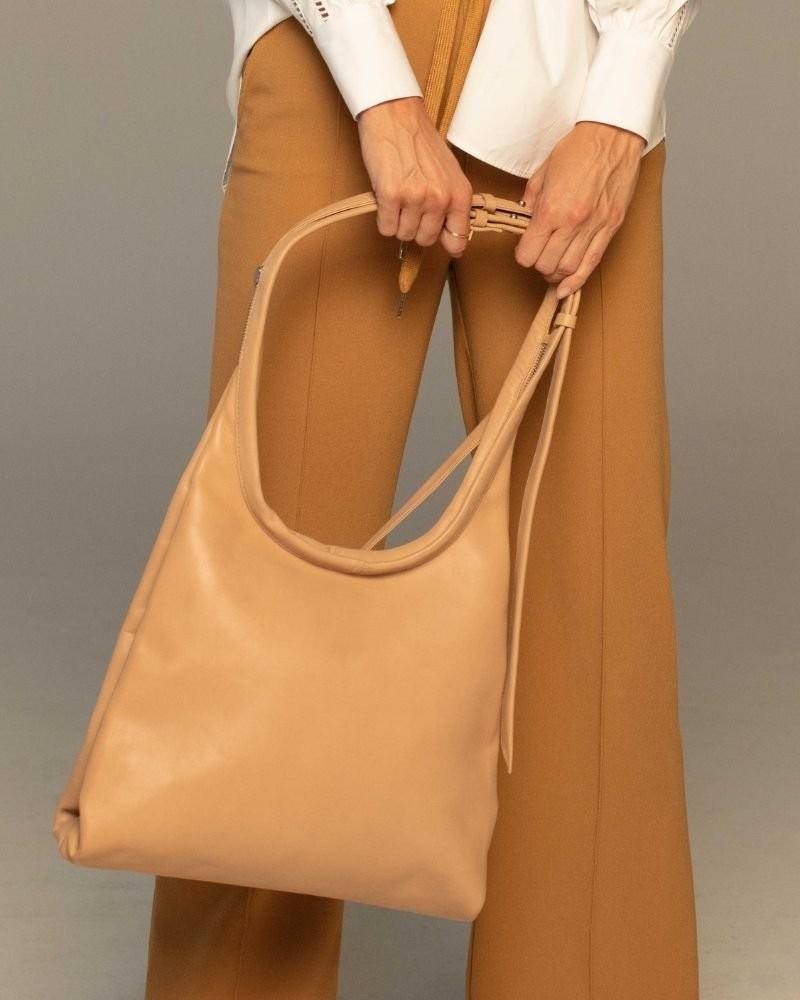 Thalia Hobo Leather Bag -  palepink