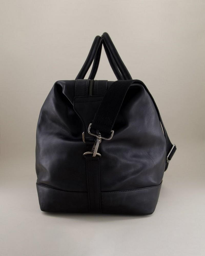 Rami Leather Weekender -  black