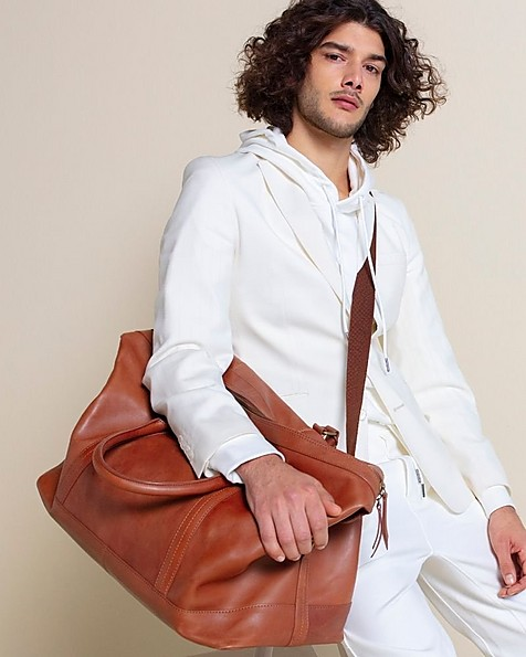Rami Leather Weekender -  tan