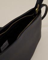 Ane Pleated Crossbody Bag -  black