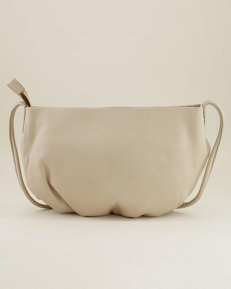 Ane Pleated Crossbody Bag -  stone