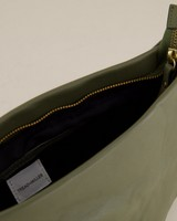 Ane Pleated Crossbody Bag -  lightgreen