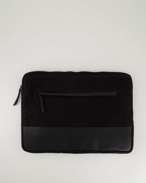 Landro Canvas Laptop Sleeve -  black