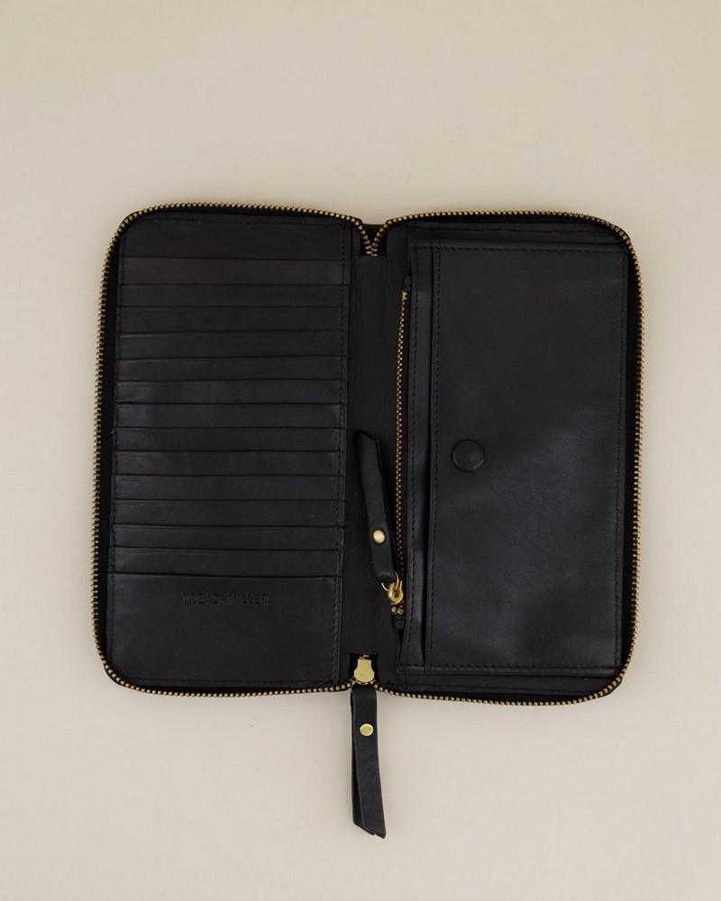 Kira Core Zip-Around Purse -  black