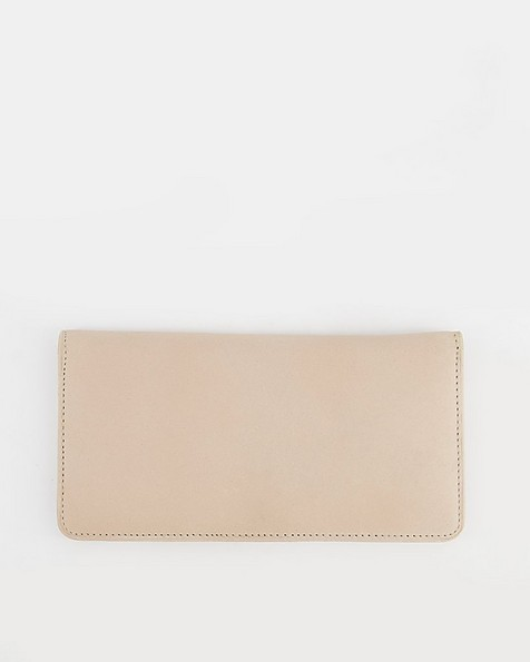 Aya Clean Clip Purse -  taupe