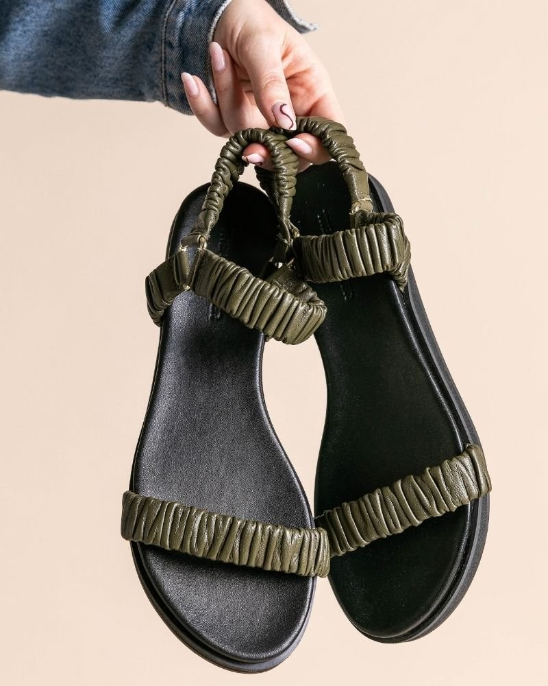 Ladies Kelby Sandal  -  olive