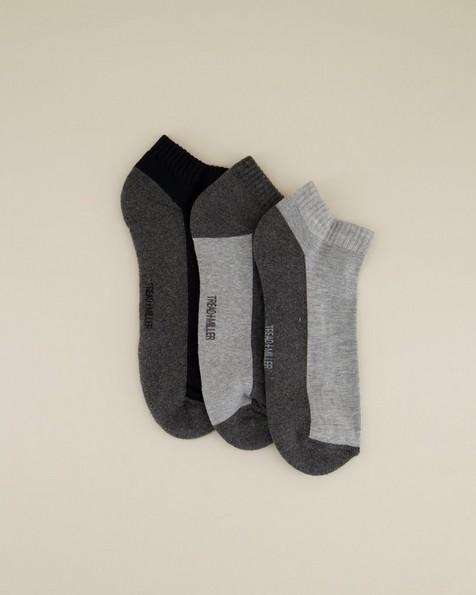 3-Pack Men's Trainer Sock Pack -  grey