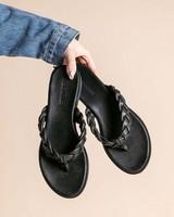 Ladies Kiara Sandal  -  black