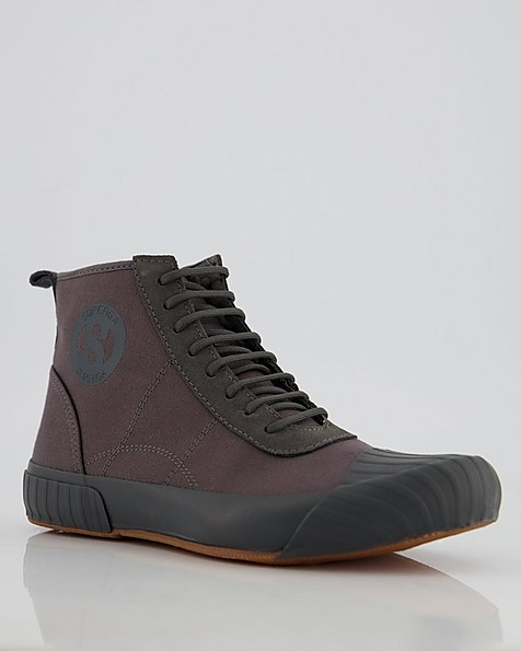 Superga Men's Canvas Boot Sneaker -  grey