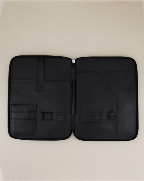 Koji Leather Tech Bag -  black