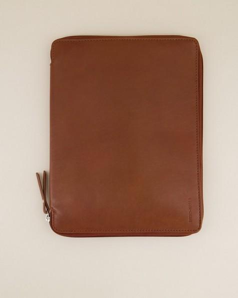 Koji Leather Tech Bag -  tan