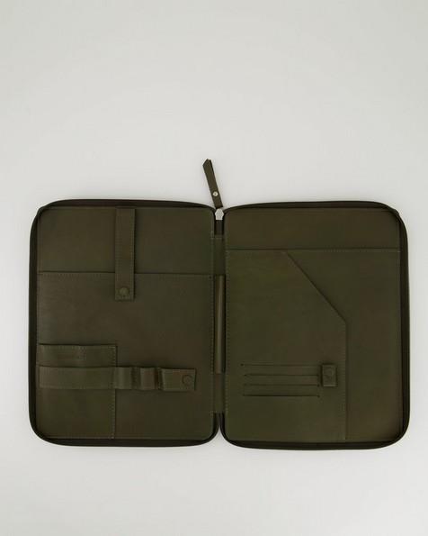 Koji Leather Tech Bag -  olive