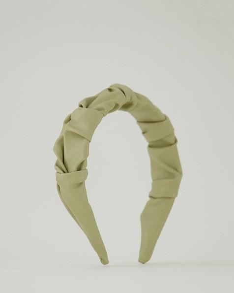 Aria Ruched Aliceband -  green
