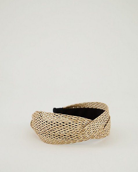 Isabelle Ladies Straw Aliceband -  oatmeal