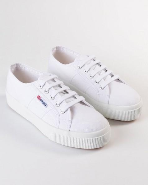 Superga Ladies Classic Mid Platform Sneaker  -  white
