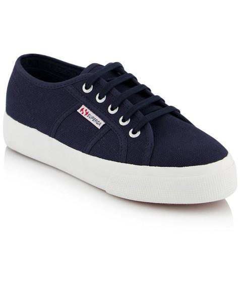 Superga Ladies Classic Mid Platform Sneaker  -  navy